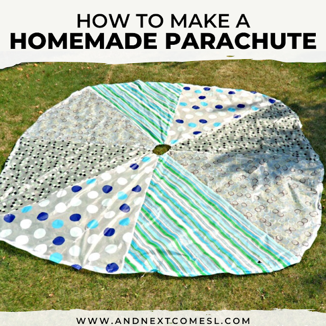 Tutorial for how to sew a parachute that's roughly 10' in diameter