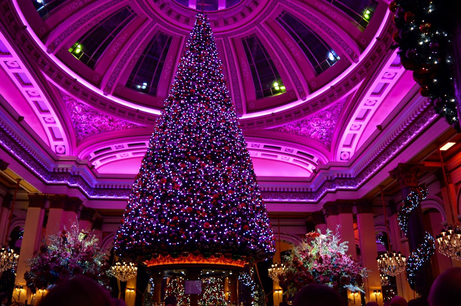 Top Tips for Driving to Edinburgh Christmas Markets with Kids - inside the dome
