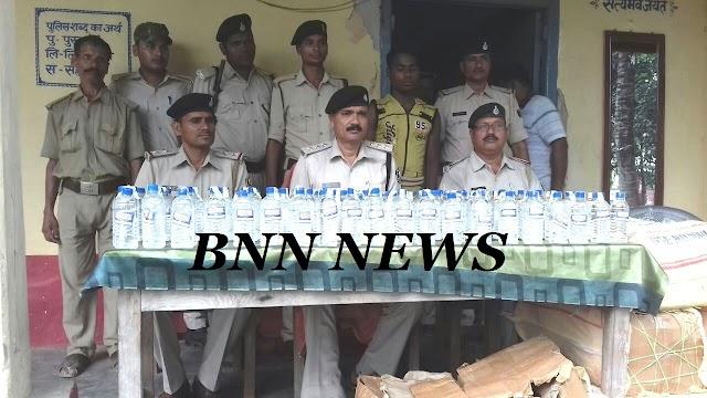 बलवा में भूसा के घर से पुलिस ने बरामद किए 960 बोतल शराब