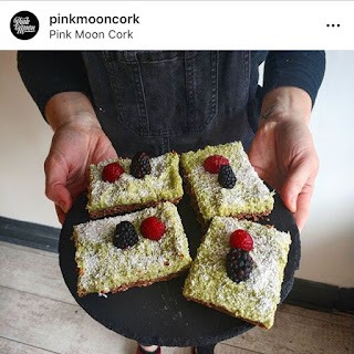 Pink Moon vegan lime coconut slices