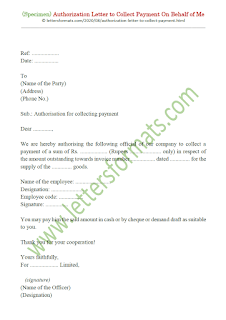 authorization letter to collect payment sample