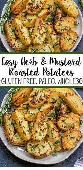 Roasted Herb Mustard Potatoes