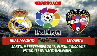 Prediksi Real Madrid vs Levante 9 September 2017