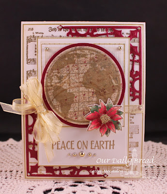 The Earth, Joy to the World, Poinsettia Wreath, Poinsettia Wreath die, Decorative Corners Die, Christmas Paper Collection 2103