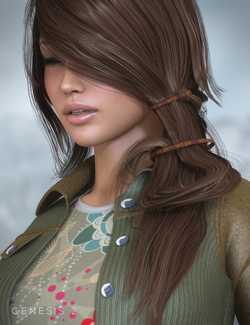 Envy Hair for Genesis and Genesis 2 Female