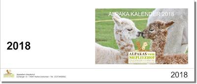 Alpaka Tischkalender 2018