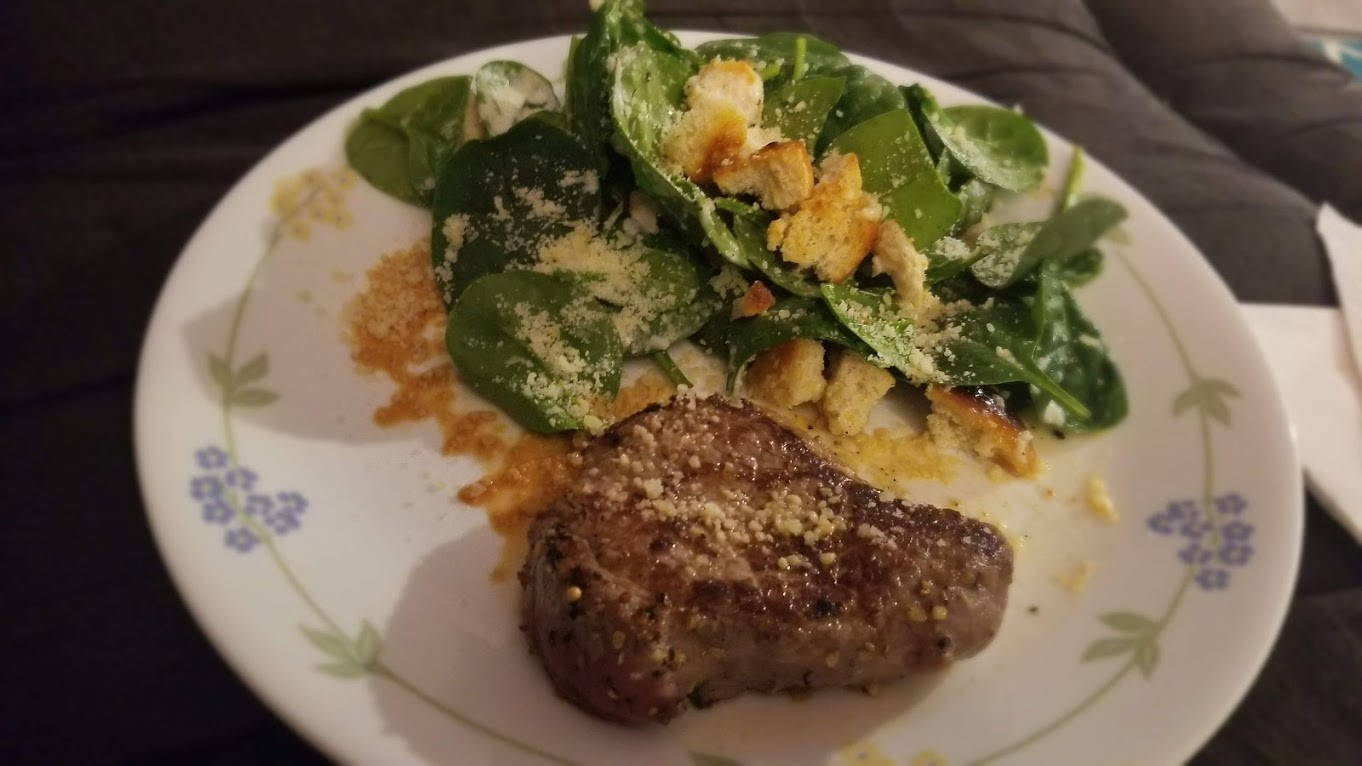 Steak and parmesan salad, from Dinnerly