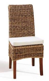 Silla comedor rattan sillas mimbre, sillas junco, sillas abaca