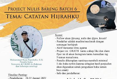 PROJECT NULIS BARENG BATCH 6 TEMA CATATAN HIJRAHKU