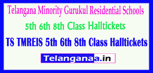 TMREIS Telangana Minority Gurukul Residential Schools 5th 6th 8th Class Halltickets Download
