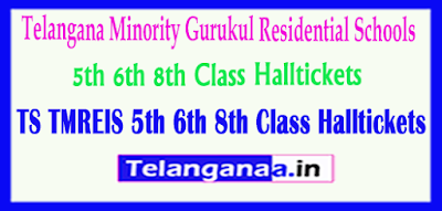 TMREIS Telangana Minority Gurukul Residential Schools 5th 6th 8th Class Halltickets Download