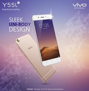 Vivo Y55L, Ponsel Pemula Dengan Spesifikasi Menawan