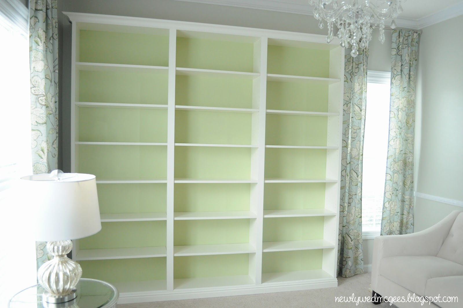 not so newlywed mcgees built in bookshelves. Black Bedroom Furniture Sets. Home Design Ideas