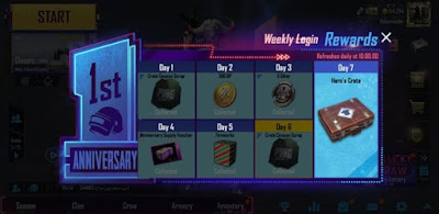 PUBG Mobile weekly rewards