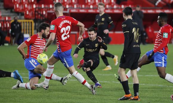 ملخص مباراة  برشلونة وغرناطة (4-0) في الدوري الاسباني