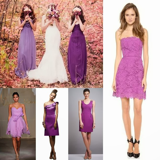 Love My Weddings: Radiant Orchid Bridesmaid Dresses