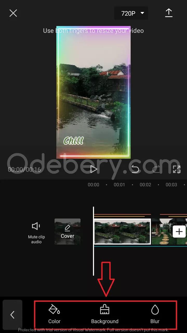 20. Pilih Color, Background atau Blur