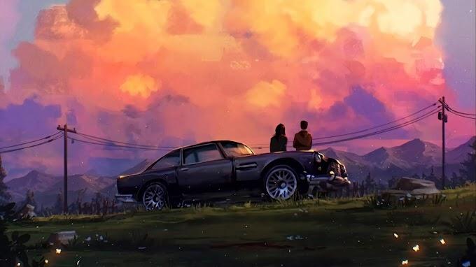Casal, Romance, Crepúsculo, Nuvens