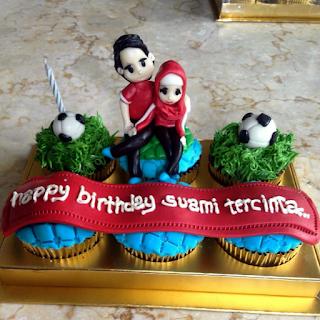 Cupcake Birthday Suami Tercinta