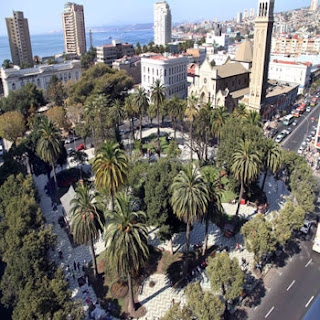 Aerial view of Plaza Victoria