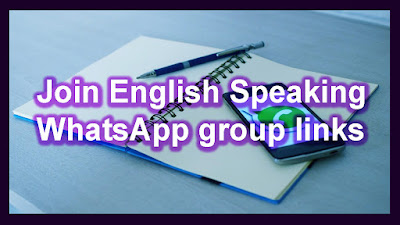 Join English Speaking WhatsApp group links