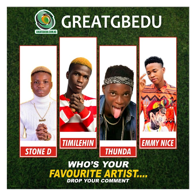Let's Gist Between STONE D, TIMILEHI, THUNDA & EMMYNICE, Who's Your Favorite?