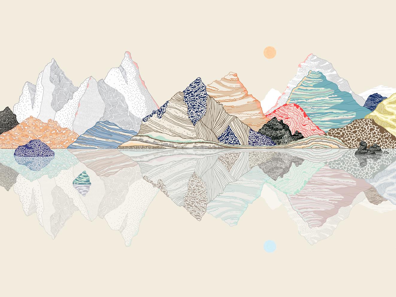 Ana de lima illustration - Mandala paysage ...