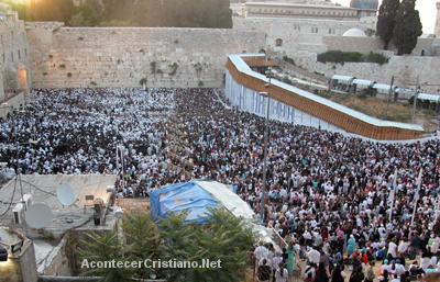 Celebración de la Fiesta de los Tabernáculos en Jerusalén