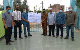 Salurkan CSR, PT Pelindo I Cabang Dumai Bantu Renovasi Makam Leluhur di Dumai