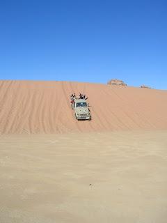 Wadi Rum dune di sabbia