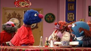 Waiter Grover, Charlie's Russian Restaurant, Mr. Johnson, Sasha and Masha, Sesame Street Episode 4316 Finishing the Splat season 43