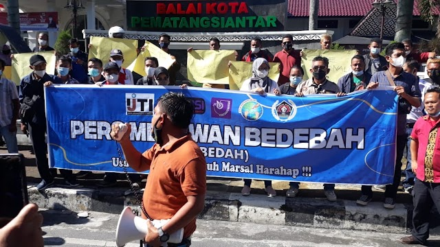 Ratusan Jurnalis Dan Wartawan Siantar - Simalungun Aksi Damai, Desak Polri Tuntaskan Kasus Penembakan Jurnalis
