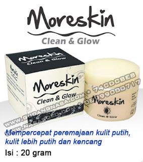 MORESKIN CLEAN & GLOW CREAM NASA Rp.155.000,-