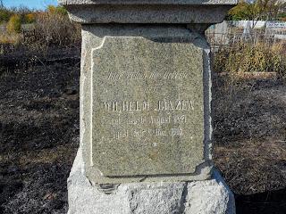 Новгородське. Старе кладовище. Пам'ятник німцю-меноніту
