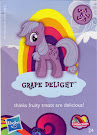 My Little Pony Wave 9 Grape Delight Blind Bag Card