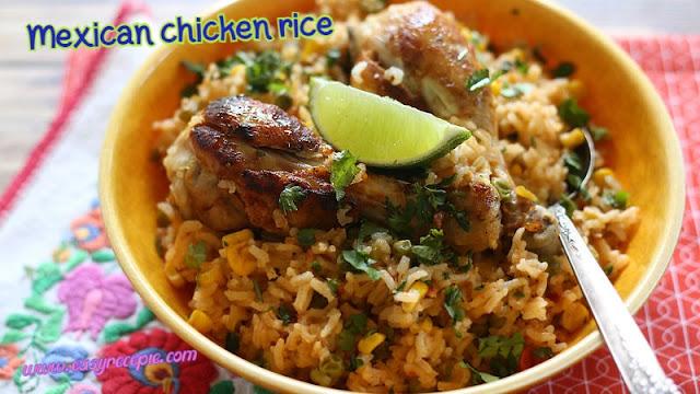 Super easy chicken recipes - Mexican chicken rice