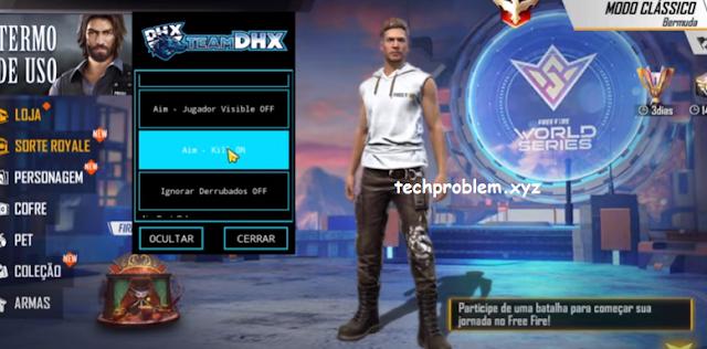 Free Fire Mod Menu Team DHX V1 Auto Headshot Autokill Aimbot Teleport Antiban