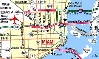 EYE ON MIAMI Flight Paths over Miamis Downtown About 650