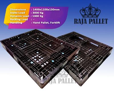 Pallet plastik bekas Ukuran 1400x1100x150 mm
