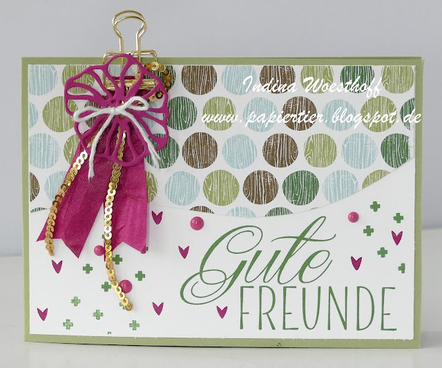 Pop Up Card | Tierische Glückwünsche | Stampin up | papiertier Indina | DIY | A Little Wild
