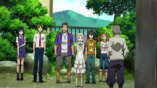 Bohaterowie serialu AnoHana jako nastolatkowie