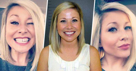 Maestra es detenida y posa sonriente para la policía