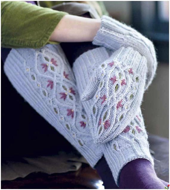 Гетры спицами на обувь: схемы и описание - Ladiesvenue.ru