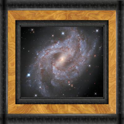 Galaxy NGC 2525 with supernova SN 2018gv - NASA, frame effect by Big Huge Labs