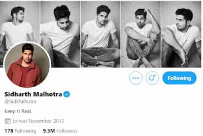 Sidharth Malhotra Twitter