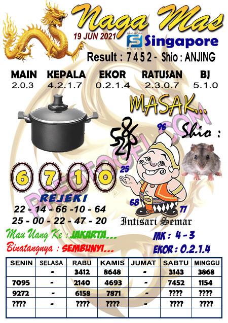 Syair Nagamas SGP sabtu 19 juni 2021