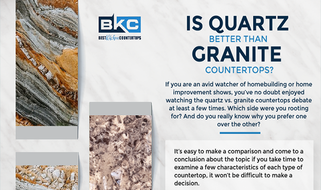 Is Quartz Better Than Granite Countertops? #infographic