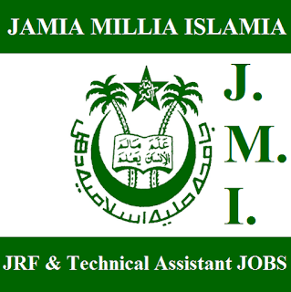 Jamia Millia Islamia, JMI, New Delhi, JRF, Technical Assistant, 12th, freejobalert, Sarkari Naukri, Latest Jobs, jmi logo