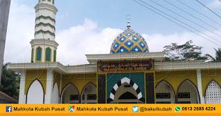 Pemasangan Kubah Masjid Enamel Rowokele - Kebumen