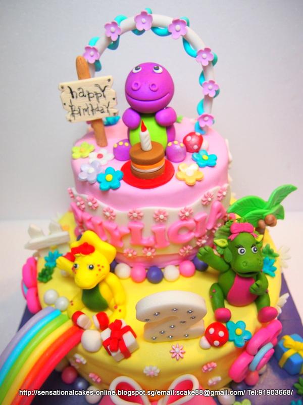 The Sensational Cakes Barney N Friends Cake Singapore